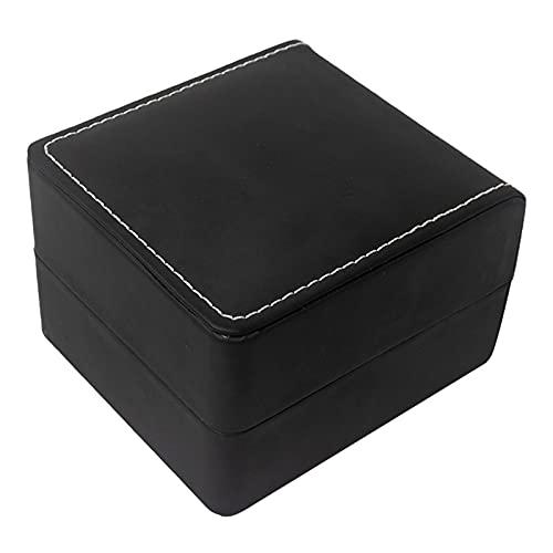 XINJIABAO Caja de Regalo del Cuadro de Almacenamiento. Reloj de joyería Caja de Embalaje Pulsera Reloj de joyería Caja de Almacenamiento de joyería. (Color : Black, Size : One Size)