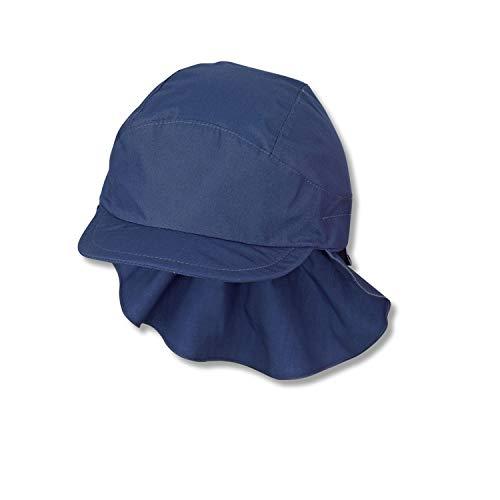 Sterntaler Schirmmütze mit Nackenschutz sin, Azul, 47 para Niños