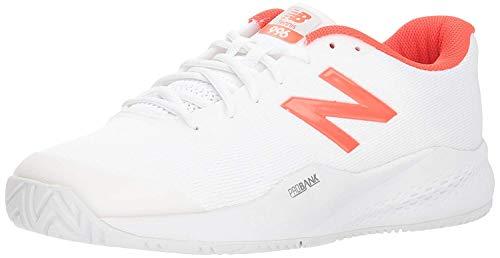 New Balance Herren 996 V3 Hard Court Tennisschuh, Weiá (Weiß/Neo Flame), 39.5 EU