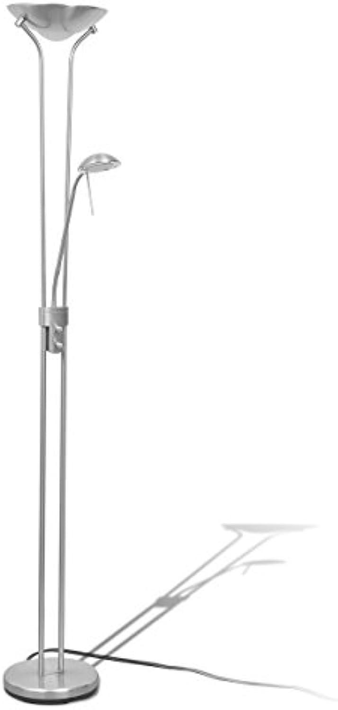 VidaXL LED Stehlampe Dimmbar 23W 180cm Deckenfluter Standlampe Stehleuchte