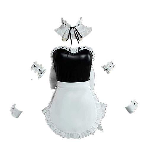 Anime Re: Leben in Einer Anderen Welt als Null Ram/Rem Halloween Karneval Cosplay Kostüm Outfit Dienstmädchen Schürze Leder Kleid Anzüge für Mädchen Frauen Sexy Rock Hohe Qualität
