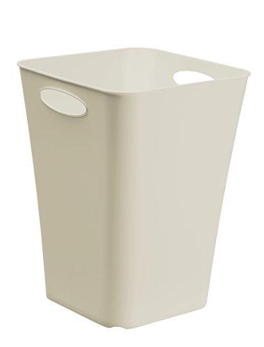 Design-opbergdoos Living van kunststof (PP), universeel inzetbaar, ook als paraplubak of cadeaupapier-organizer modern 29.5 x 29.5 x 39.5 cm cappuccino
