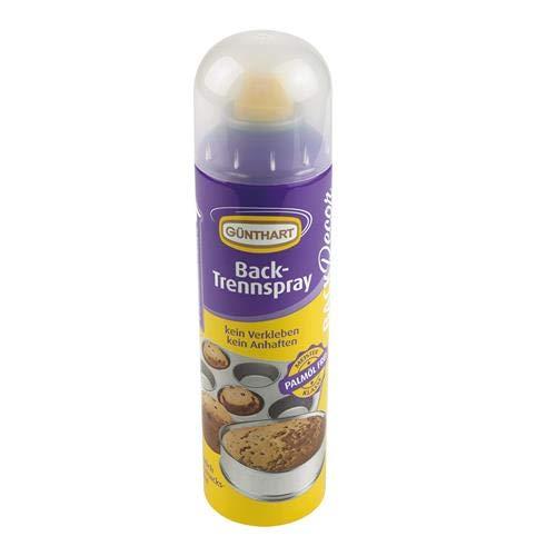 Günthart BackDecor Backtrennspray | Spray zum Einfetten von Formen und Bleche | sehr ergiebig | einfach in der Anwendug | 200 ml | OHNE Palmöl