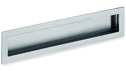 Schwinn Beschläge Qualität, Muschelgriff aus Edelstahl, Einfräßmaß 90 mm
