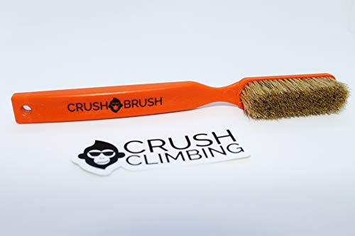 Crush Climbing Crush Brush Boars Hair Large Climbing Brush 1 Pack (Neon Orange)