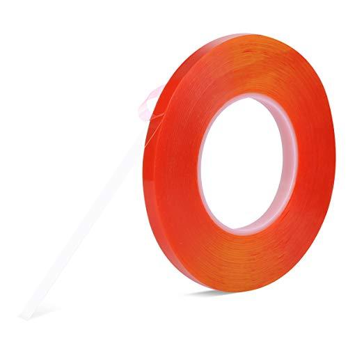 両面テープ、強力 透明 はがせる Meristcn テープ 作業 DIY 耐候 耐熱 屋外 車用テープ 透明両面テープ (10mm)