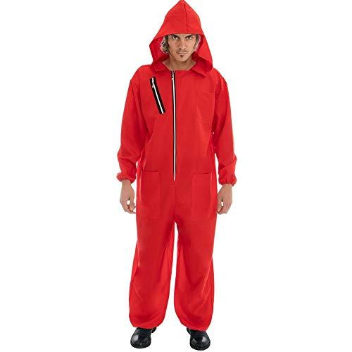 Disfraz de ladrn Rojo para los fanticos de la casa del Dinero 2tlg Monos mscara Rojo - L