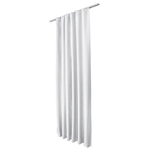 Beautissu Fenster Vorhang Kräuselband-Vorhang Amelie - 140x175 cm Weiß - Dekorative Gardine versalband Fenster-Schal