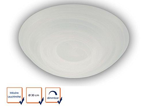 LED plafondlamp plafondschaal rond Ø 30cm glas albast design mooie dimbare LED vloerlamp met bajonetsluiting