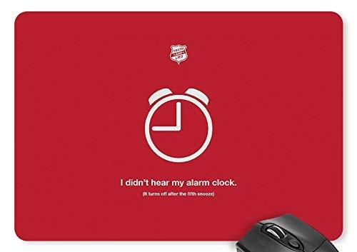 Mauspad ich habe meinen wecker / wecker nicht gehört illustration mouse pad