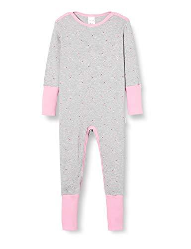 Schiesser Baby-Mädchen Anzug mit Vario Kleinkind-Schlafanzüge, grau-Mel, 62