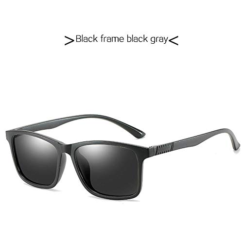 XVBTR Quadratische Männer Polarisierte Sonnenbrille Luxusmarke Sonnenbrille Frauen UltraleichterRahmen Männlich Angeln Brillenbeschichtung Linsenschirme Blackframegray