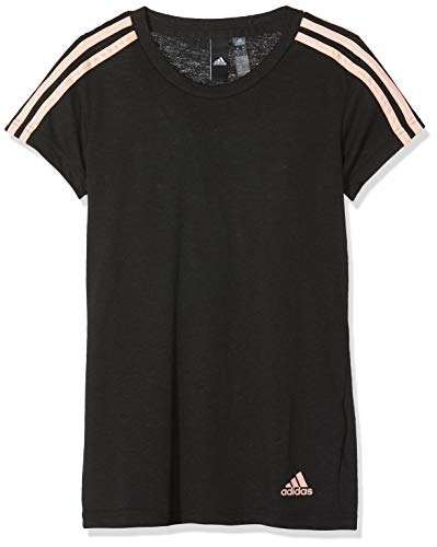 adidas ESS 3S Slim tee Camiseta, Negro (Haze Coral), M para Mujer