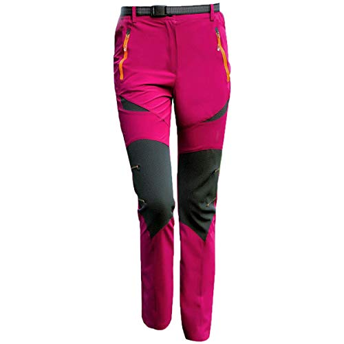 LY4U Pantalones de Senderismo al Aire Libre para Mujer Pantalones de Senderismo Transpirables de Secado rápido Ligeros
