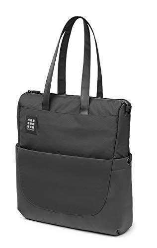Moleskine ID Collection Borsa a Tracolla Verticale Device Bag per Pc, Tablet, Notebook, Laptop e iPad fino a 15  , Dimensioni 24 x 10 x 38 cm, Colore Nero