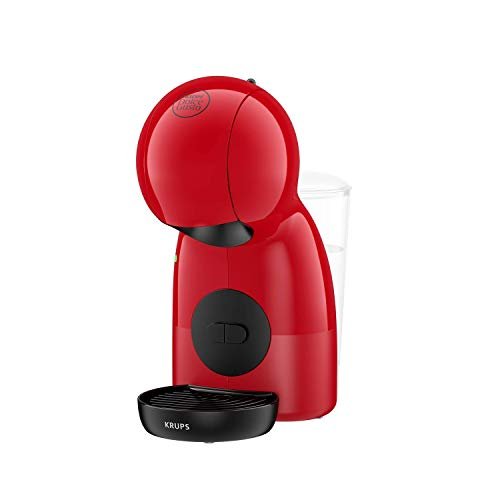 Krups Piccolo XS KP1A05 - Cafetera cápsulas Nestlé Dolce Gusto de 15 bares de presión y 1500 W potencia con depósito de 0.8 L, monodosis multibebidas frías y calientes, manual, compacta, rojo y negro