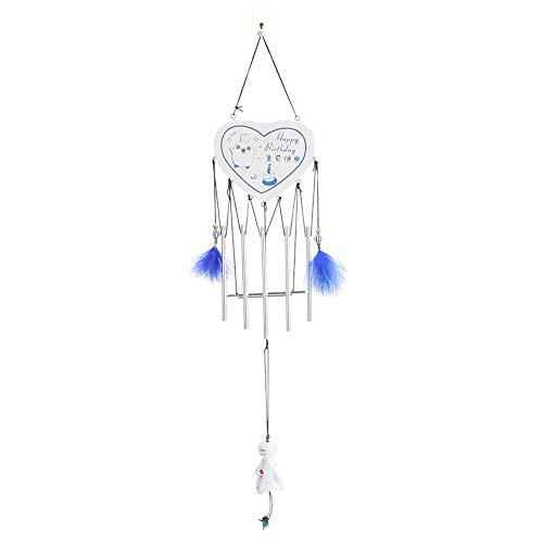 Fdit Tube en Aluminium Carillons éoliens Idéal Cadeau d'anniversaire Crisp Hanging Decor Ornement pour la décoration de la Maison