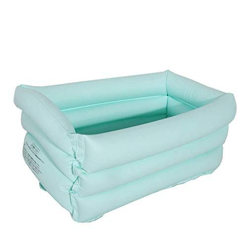 DFKDGL Klapppool Swimmingpool, aufblasbare Babybadewanne Kinderpool, warme Badewanne Babybadewanne Ideal für alle Kinder und Erwachsene
