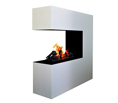 Elektrokamin Raumteiler - GLOW FIRE Opti Myst Schiller, Wasserdampf Feuer, elektrischer Standkamin mit Fernbedienung, regelbare Flammenstärke