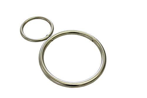 GARDINIA Dekoring, Zum Drapieren von Gardinen und Vorhangstoffen, Außen ca. Ø 45/80 mm, 2 Stück, Metall, Silber-matt