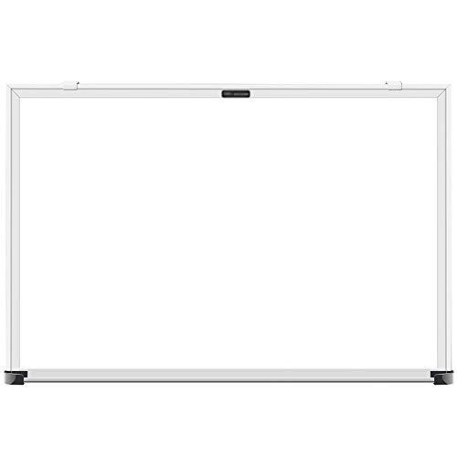 EVERAIE Tableau Blanc effaçable à Sec avec Porte-stylos   Léger et Facile à Fixer au Mur   pour la Maison, l'école ou Le Bureau, Panneau galvanisé, Blanc, 60 x 40 cm
