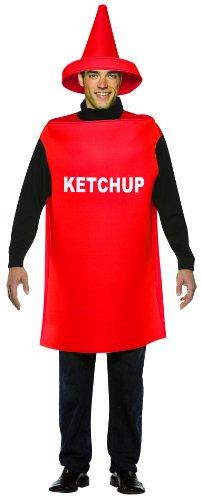 Rasta Imposta Bottiglia di Ketchup - Peso Leggero - Costume Adulto del Vestito Operato