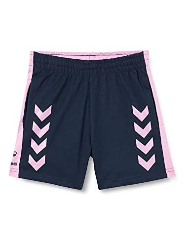 hummel hmlACTION Cotton Shorts Kids Pantalones Cortos, Black Iris/Orchid, 140 Unisex niños