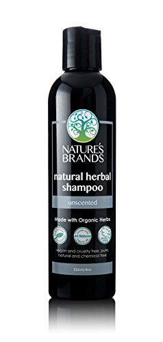 Natural Shampoo by Herbal Choice Mari (Unscented, 8 Fl Oz Bottle) - Made with Organic Ingredients - No Toxic Synthetic Chemicals