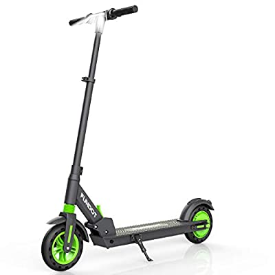 FOUNTDOT Electric Scooter, Folding Commuter Scooter with 8'' Tyre, Motorized Scooter with 3 Speed Modes Up to 25km/h, Electric Scooter Offroad, Electric Kick Scooter for adult & Teens (Black-Green)