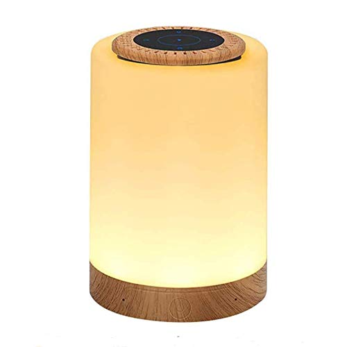 Homcasito Night Light Lamp Bluetooth Speaker Table Lamp LED Nursery Touch Bedside Lamp Rechargeable Dimmable Best Gift for Men Women Teens Kids Children