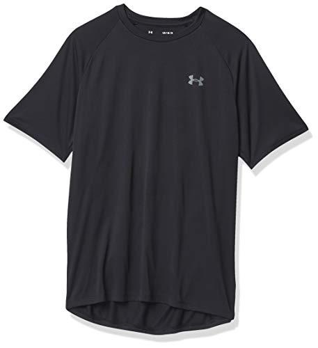Under Armour mens Tech 2.0 Short Sleeve T-Shirt, Black (001)/Graphite, Small