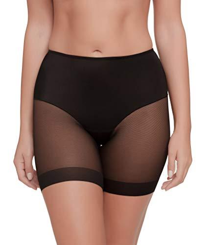 Braga Pantalón Anti-Rozadura Invisible Sin Costuras y Ligera Tejido Suave (Negro, M)