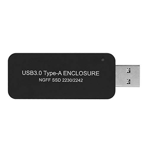 Cuifati Caja de Disco Duro Externo M.2 SATA SSD a USB 3.0 Convertidor de Lector de SSD Externo con UASP, Caja portátil USB3.0 a M.2 NGFF SDD Caja de Disco Duro Externo para 2230/2242