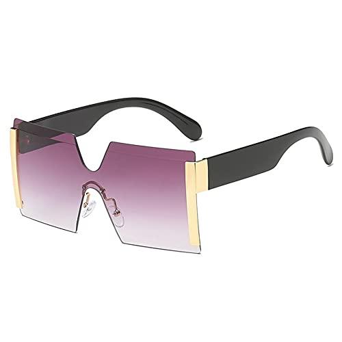 Gafas de sol al aire libre sin marco de lente integrada gafas de sol personalizadas marco grande de moda para hombres y mujeres