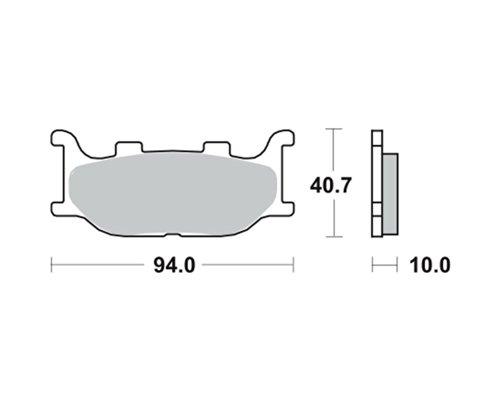 Plaquettes de frein TRW MCB666SV pour YAMAHA XVS 1100 Drag Star Classic VP05 00-02 (avant)