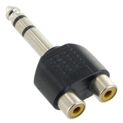 Es una elección 6,35 mm Macho a 2 RCA estéreo Adaptador de Enchufe for Auriculares, tamaño pequeño, Peso Ligero y fácil de Llevar