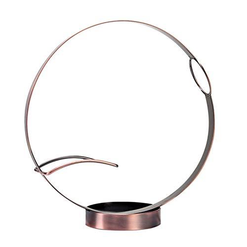 Portabotellas de mesa retro Display organizador salón vasos de apoyo soporte redondo soporte de bar cocina para botella individual acero inoxidable decoración para el hogar (bronce)