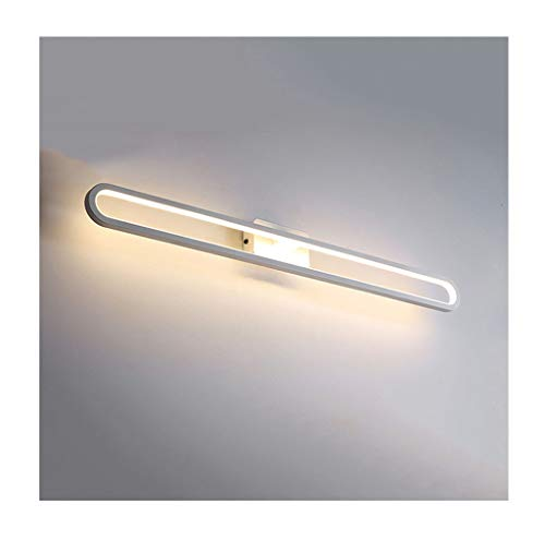 Spegelbelysning spegel frontlampa enkel och kreativ cirkel LED akryl badrum vägglampa [energiklass A +] (färg: Varmt ljus 19 W/50 cm)