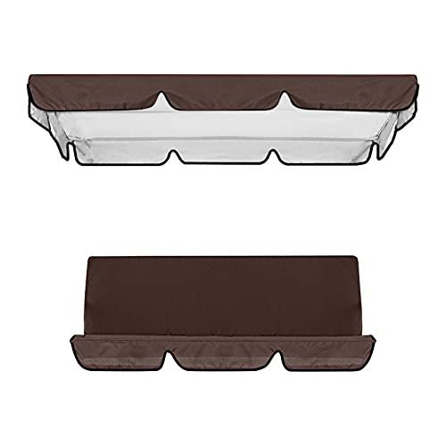 Cubierta impermeable para columpio, toldo y silla de jardín, protección solar (marrón)