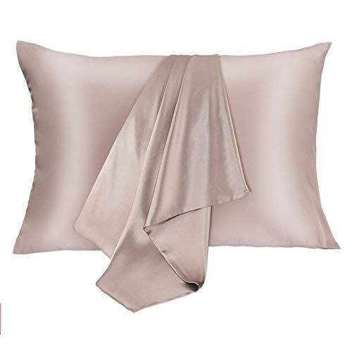 JOGJUE Silk Pillowcase for Hair and Skin 2 Pack...