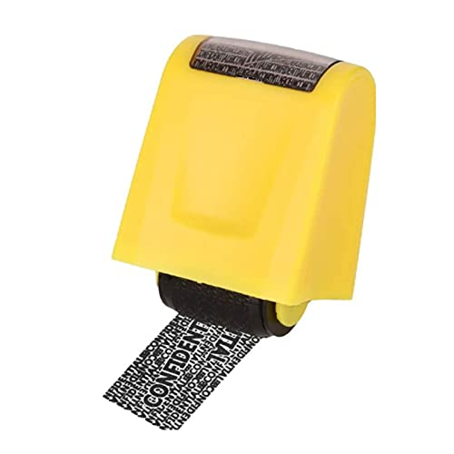 SHUIZHUYU Roller Stamp Identity Protection Roller Stamps Identity Guard Personalised Refillable Self Inking for Security Anti Theft Privacy Safety Protection Blockout Information (Color : A)
