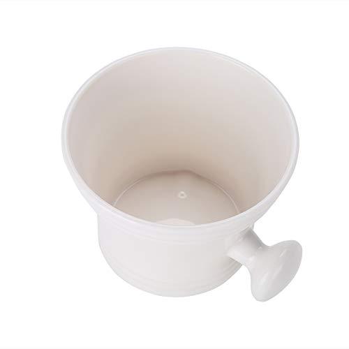 Bol de savon à raser 2 couleurs, savon à raser en mousse et bol à crème, tasse de rasage lisse pour le rasage pour hommes, petite taille et poids léger