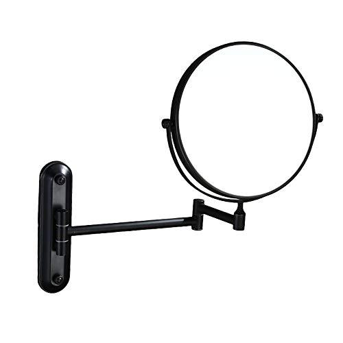 GOCF Miroir De Maquillage Portable 3 Fois Grossissement Mural Miroir cosmétique 8 Pouces Double Face Rotating rétractable Miroir cosmétique pour Le Maquillage De Comptoir
