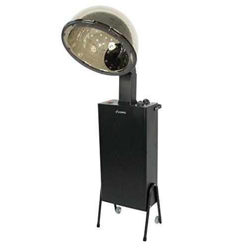 SalonPro Standing Salon Professional Hooded Portable Rolling Ionic Hair Dryer Pro Accelerator w/Wheel Kit