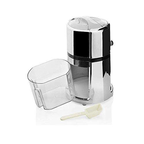 IW.HLMF Chrome Plated Ice Crusher, ABS Cocktail Ice Crusher, By Manual Rotary Ice Cube Crusher, Household Use, Easy to Use Ice Crusher Hand Crank, for Cocktails Party, with Scoop