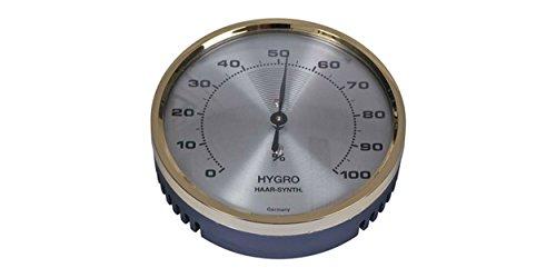 Hygrometer gold/antikgold, mit Haar-Synthetik