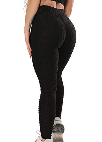 FITTOO Damen Sport Leggings Yogahose Fitness Hose Lange Sporthose Stretch Workout Fitness Jogginghose Design 3 - Schwarz M