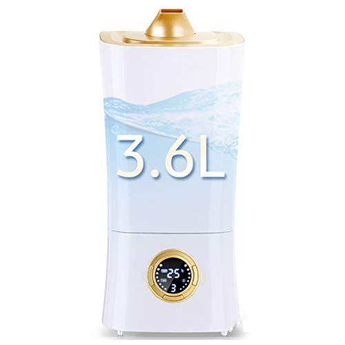 Humidificador ultrasónico de 360 ml, humidificador Cool Mist, para dormitorio, apagado automático y salida de niebla doble de 360 °, modo de 3 velocidades, humidificador silencioso de 30 dB.
