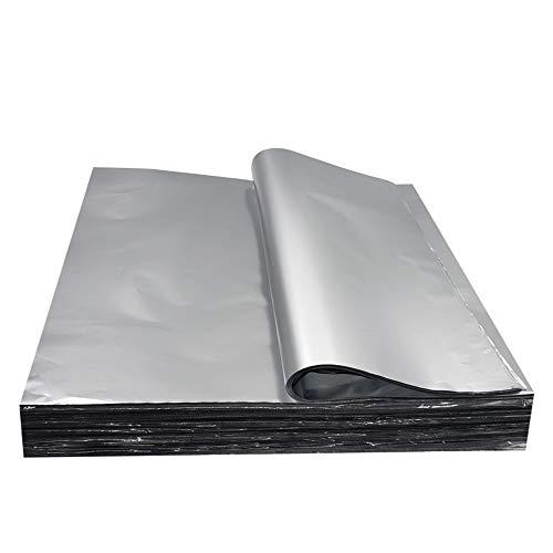 Lezed Papel de Aluminio para Barbacoa 100 hojas Desechable Bandeja de Aluminio para Barbacoa Parrilla Horno/Herramientas de Hornada para Cocina Hogar Picnic al Aire Libre 30 * 30 cm