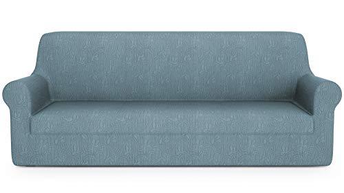 PETTI Artigiani Italiani-Funda Elástica para Sofa, Protector de Sofa, Tejido Jacquard, 100% Made in Italy